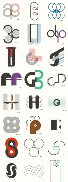 Monograms (1945) created by the french Goldsmith and Stylist Jean Puiforcat. Images digitalized by Philipp Messner, Zurich (www.isotype.ch)  http://www.sortby.org/project/69/