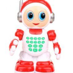 Red/White Fancy Toy Cartoon Story-teller Mini Robot #robots