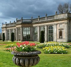 'The Orangerie' which was designed in 1862 by Alfred Darbyshire is joined by a passageway to the main house at Lyme Park, Cheshire UK
