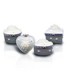 Look At This Pearl Four Piece Glass Jewelry Box Set On #zulily Today!