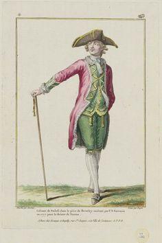 1779 Costume de Stukili dans la pièce de Beverley exécuté par P.N. Sarrazin en 1777, pour le théatre de Nantes.