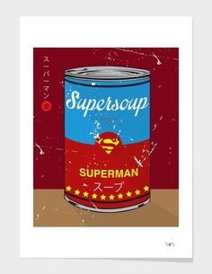 """""""Superman - Supersoup Series"""", Limited Edition Affiches d'art by Hyo Taek Kim - From 45,00€ - Curioos"""