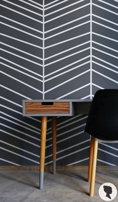 Self Adhesive Herringbone Pattern Removable Wallpaper by Livettes