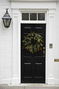 Home Exterior ~ Black Front Door