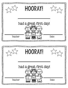 Free Great First Day Of School Certificate Free Preschool Pre K And Kindergarten Great First Day Certificates Also Included Is A Great First Day Non Grade Specific Certificate Preschool First Day, First Day Of School Activities, Kindergarten First Day, 1st Day Of School, Beginning Of The School Year, Free Preschool, Preschool Lessons, Kindergarten Teachers, Preschool Classroom
