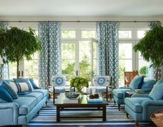 Living Room Cushions, Living Room Sectional, Living Room Furniture, Living Room Decor, Rustic Furniture, Blue And White Living Room, Room Interior, Interior Design, Blue Rooms