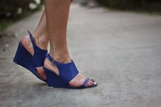ShoeDazzle blue wedges for Summer Style!