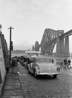 Crossing the river forth on the ferry about 1930s