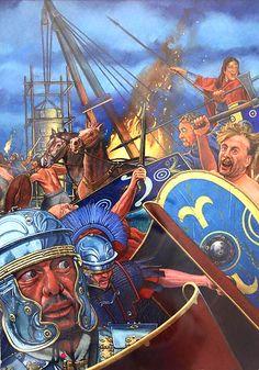 Boudicca's Rebellion by Graham Sumner Roman Warriors, Celtic Warriors, Military Art, Military History, Ancient Rome, Ancient History, Viking Character, Roman Legion, Roman Britain