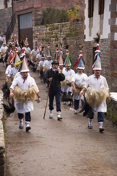 Carnavales de Ituren y Zubieta in Navarra, Pais Vasco. An end-of-January festival intimately tied to Nature. The large cowbells they wear on their backs are a way of asking Nature to wake up/foreseeing the beginning of Spring and at the same time scaring away evil spirits.