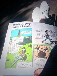 @hiitsmeandrea: Pernas ó sol e a ler a @OINK! A revista do Xabarín Club ^^