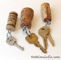 Wine Cork Keychains - DIY Craft Kits, Monthly Craft Projects, Craft Supplies, Subscription Box | Whimseybox