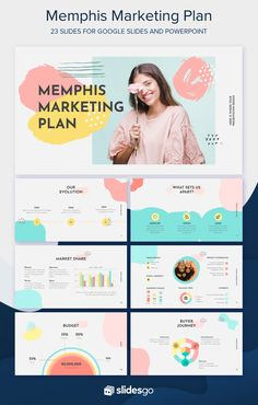 This very colorful template will amaze everybody, as every single slide gives a sense of youth and joy. Surround yourself with happiness using a palette full of pastel tones! Presentation Layout, Presentation Templates, Presentation Slides, Slide Design, Web Design, Design Layouts, Brochure Design, Graphic Design, Slides Powerpoint