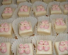 Baby shower petit fours  #Baby #Shower