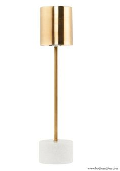 marble and brass table lamp . Bodie and Fou