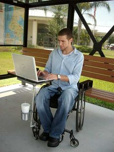 ezEnabler Wheelchair Tray- I want one of these! It even has a cup holder!