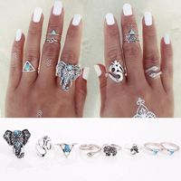 8PCS/Set Fashion Vintage Bohemian Turkish Midi Ring Set Steampunk Snake Anillos Ring Knuckle Rings for Women Anel Joint Ring