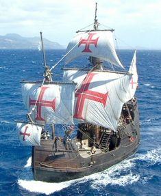 Categorie: Ontdekkingsreizigers: Santa Maria: De Santa Maria was het schip van Columbus waarmee hij naar Indie zou gaan reizen maar perongelijk in Amerika aankwam.