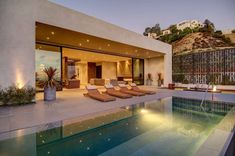LA Residence by La Kaza and Meridith Baer Home 02 Pool. ideas, backyard, patio, diy, landscape, deck, party, garden, outdoor, house, swimming, water, beach.