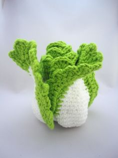 handmade Crochet vegetables Chinese cabbage baby Playfood soft toys for baby Special baby giving gifts present Crochet Fruit, Crochet Food, Crochet Kitchen, Crochet Crafts, Crochet Dolls, Crochet Baby, Crochet Projects, Diy Plush Toys, Knitting Patterns