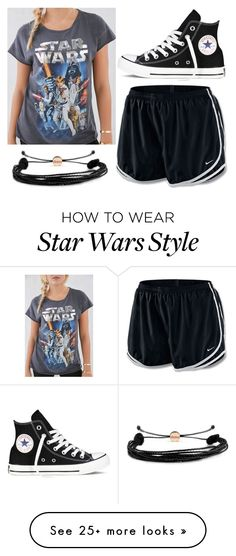 """""""#1566"""" by kaydog on Polyvore featuring NIKE, Junk Food Clothing, Converse, Domo Beads, women's clothing, women's fashion, women, female, woman and misses"""