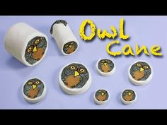 ▶ Polymer clay tutorial Owl cane by Mo Clay | Millefiori - Murrina Gufo - Arcilla polimérica Búho. - YouTube