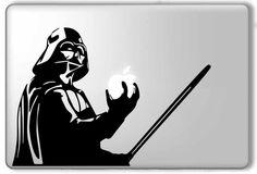 Darth Vader Holding Apple and Lightsaber