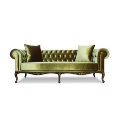 Velvet Chesterfield Sofa by LebertaLondon on Etsy