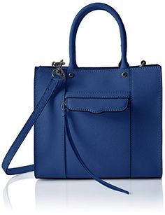 Women's Cross-Body Handbags - Rebecca Minkoff Mab Tote Mini Cross Body Cobalt One Size ** Check out the image by visiting the link.