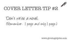 Cover Letter Tip #2 http://careers.ua.edu