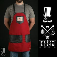 FancyGents custom made aprons are perfectly handcrafted using only high quality materials. Purpose is to provide a personal standout style with flawless fit Tattoo Studio, Waiter Uniform, Barber Apron, Shop Apron, Custom Aprons, Leather Apron, Apron Designs, Leather Working, Barber Shop
