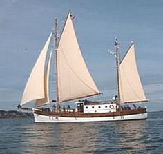 """""""Lindy"""" will soon be sailing to her home to port of Juneau in Alaska.    She has been restored to her 1944 glory by Bill with help from the students and instructors at the North West School of Wooden Boat Building at Port Hadlock, Washington."""