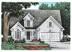 Wynterhall House Plan - The classic European stucco exterior of the Wynterhall has outlasted its more trendy competitors to become a highly desired and time-honored appeal of today's home. Craftsman House Plans, Country House Plans, Modern House Plans, House Floor Plans, Craftsman Style, Mediterranean House Plans, Mediterranean Home Decor, Mediterranean Architecture, Affordable House Plans