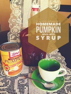 Homemade Pumpkin Spice Latte Syrup Perfect Fall Drink Super Easy & Delicious DIY Pumpkin Spice! From: So Freakin' Delicious!