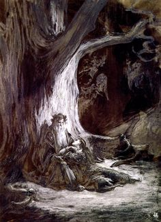Gustave Dore ~ Vivien and Merlin