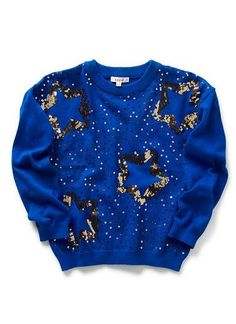 Girls Knitwear & Jumpers | Sequin Star Sweater | Seed Heritage