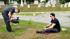 Nick films Zak in the cemetery. Zak Bagans, Ghost Adventures, Ghost Hunters, Travel Channel, Paranormal, Investigations, Cemetery, Films, 2016 Movies