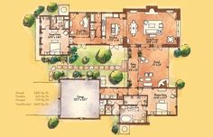 Small Hacienda Style Homes | Caballo ~ 2,481 sq. ft ~ 2 Master Suites ~ 3 Bathrooms