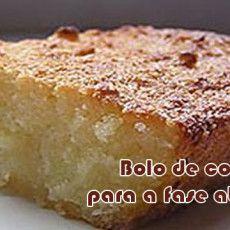 Receita de bolo de coco para a fase ataque da dieta dukan.
