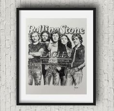 Music poster the eagles poster the eagles band art by Artbypierre