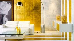 Réchauffer la déco avec la couleur dorée (design folia blog)