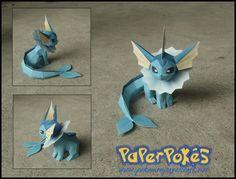 PaperPokés - Pokémon Papercrafts: VAPOREON v2: Mini