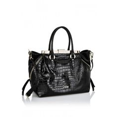 LIU JO BAG BRIGITTE BLACK The Brigitte Tote is a black medium-size bag  featuring 0e86e57d4e7