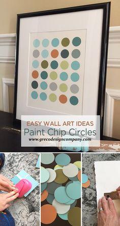 Easy Wall Art Ideas | Chapter Six: Paint Chip Circle Art
