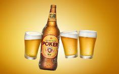 POKER | AMIGOS on Behance Pint Glass, Advertising, Behance, Photoshop, Wine, Bottle, Tableware, Layouts, Drinks