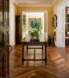 Are you set on tile? Would you be open to a herringbone pattern in the entry?