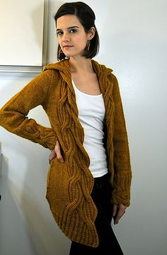 Free - Ravelry: Spinster pattern by Valérie Miller---this edging and hood? yes!