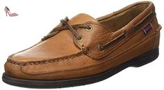 Sebago Schooner, Chaussures Bateau homme - Brun (Tan Tumbled Leather) - 45 EU - Chaussures sebago (*Partner-Link)