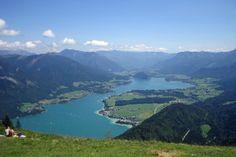 View across Lake Wolfgang from Zwölferhorn