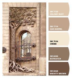Tuscan design – Mediterranean Home Decor Exterior Paint Colors, Exterior House Colors, Paint Colors For Home, Wall Exterior, Warm Paint Colors, Neutral Paint, Exterior Shutters, Grey Exterior, Exterior Cladding